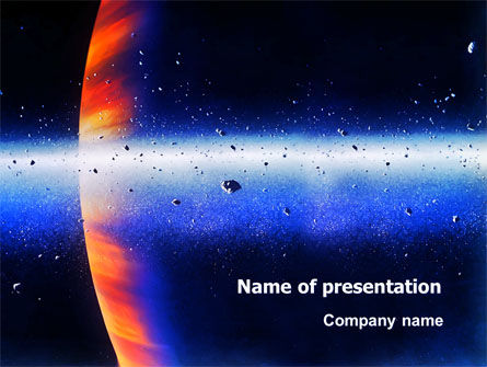 Technology and Science: Planetoid Rings PowerPoint Template #03144