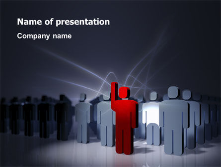 Expressing Opinion PowerPoint Template, 03145, Consulting — PoweredTemplate.com