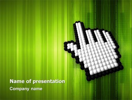 Cursor Hand PowerPoint Template, 03148, Technology and Science — PoweredTemplate.com