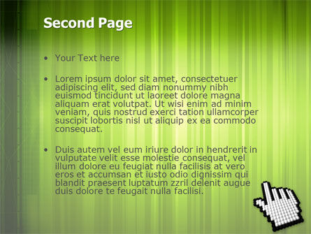 Cursor Hand PowerPoint Template, Slide 2, 03148, Technology and Science — PoweredTemplate.com