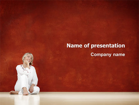 People: Lady In White PowerPoint Template #03149