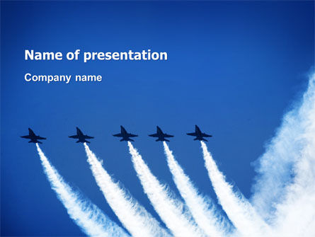 Aviation Parade PowerPoint Template, 03150, Military — PoweredTemplate.com
