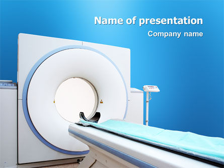 Medical: Tomografie Machine PowerPoint Template #03151