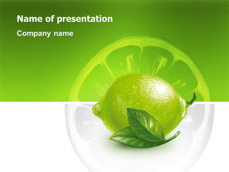 Agriculture: Green Lemon PowerPoint Template #03153