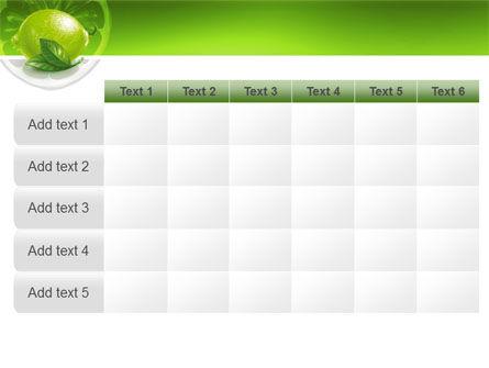 Green Lemon PowerPoint Template Slide 15