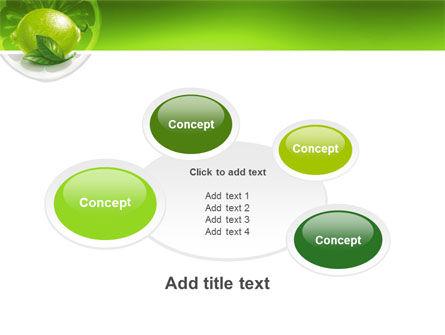 Green Lemon PowerPoint Template Slide 16