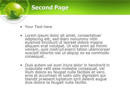Green Lemon PowerPoint Template, Slide 2, 03153, Agriculture — PoweredTemplate.com