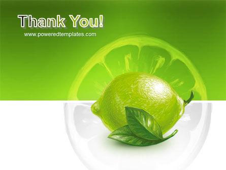 Green Lemon PowerPoint Template Slide 20