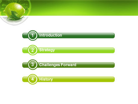 Green Lemon PowerPoint Template, Slide 3, 03153, Agriculture — PoweredTemplate.com