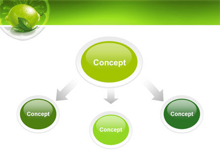 Green Lemon PowerPoint Template, Slide 4, 03153, Agriculture — PoweredTemplate.com
