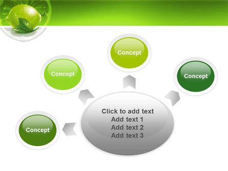 Green Lemon PowerPoint Template Slide 7