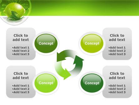 Green Lemon PowerPoint Template Slide 9