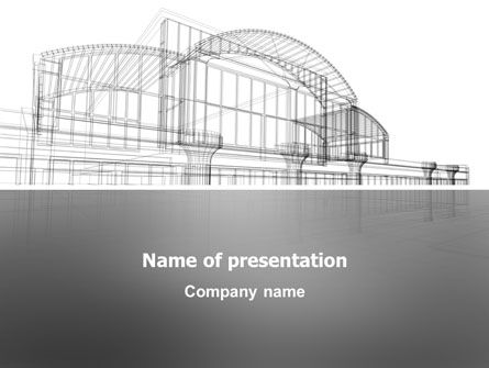 Construction: Building Design PowerPoint Template #03154