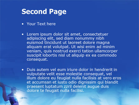 Javelin Throwing PowerPoint Template, Slide 2, 03157, Sports — PoweredTemplate.com
