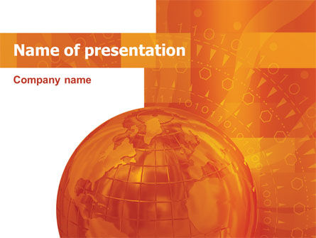 Global: Wide World Business PowerPoint Template #03159