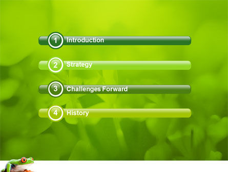 Tropical Green Frog PowerPoint Template, Slide 3, 03160, Animals and Pets — PoweredTemplate.com