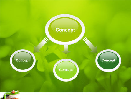 Tropical Green Frog PowerPoint Template, Slide 4, 03160, Animals and Pets — PoweredTemplate.com