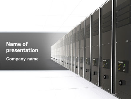 Technology and Science: Server Room PowerPoint Template #03161