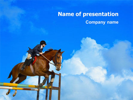 Steeplechase PowerPoint Template, 03162, Sports — PoweredTemplate.com