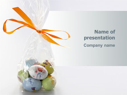 Holiday/Special Occasion: Easter Present PowerPoint Template #03163