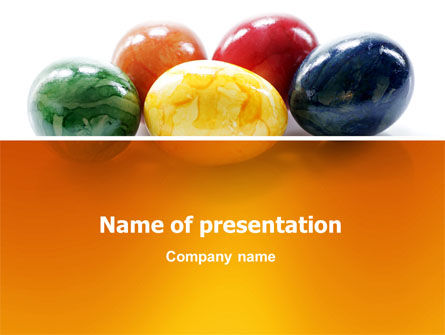 Holiday/Special Occasion: Modello PowerPoint - Uova di pasqua colorate #03164