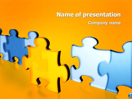 Jigsaw Chain PowerPoint Template, 03165, Abstract/Textures — PoweredTemplate.com