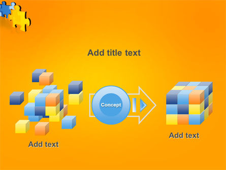 Jigsaw Chain PowerPoint Template Slide 17