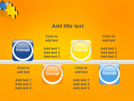 Jigsaw Chain PowerPoint Template Slide 18