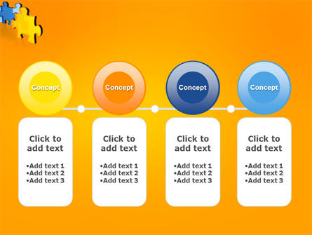 Jigsaw Chain PowerPoint Template Slide 5