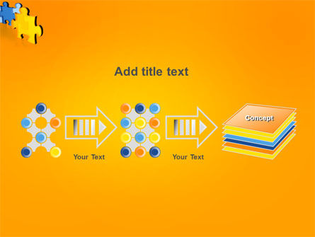 Jigsaw Chain PowerPoint Template Slide 9