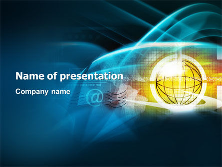 Telecommunication: World Online PowerPoint Template #03166