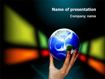 Global: Wereldmacht PowerPoint Template #03167