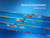Sports: Swimming Competition PowerPoint Template #03168