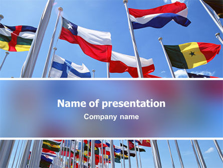 Flags/International: United Nations PowerPoint Template #03169