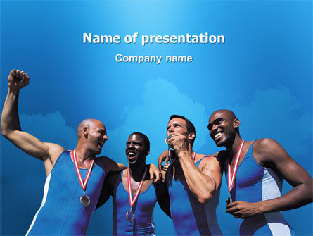 Sports: Sport Victory PowerPoint Template #03175
