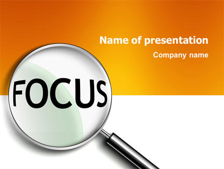 Business Concepts: Focus PowerPoint Template #03176
