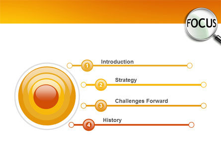 Focus PowerPoint Template, Slide 3, 03176, Business Concepts — PoweredTemplate.com