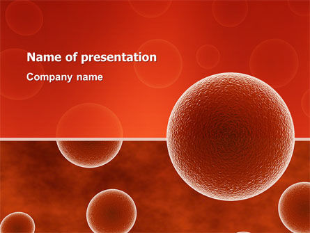 Medical: Red Spheres PowerPoint Template #03177