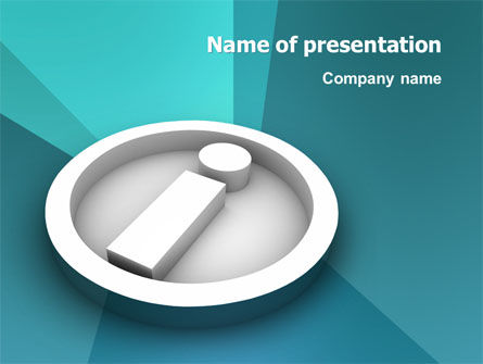 Technology and Science: Information PowerPoint Template #03178