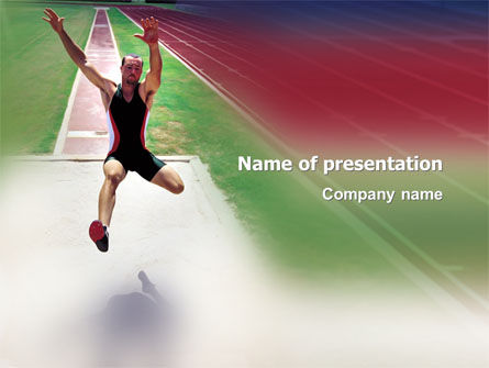 Sports: Broad Jump PowerPoint Template #03179