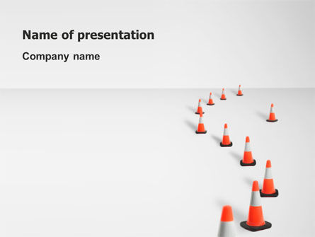 Road Barriers PowerPoint Template, 03180, Construction — PoweredTemplate.com