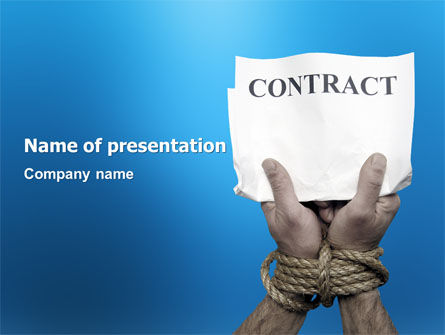 Contract PowerPoint Template, 03181, Legal — PoweredTemplate.com