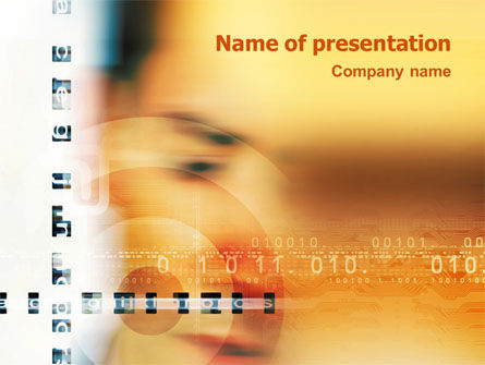 Abstract/Textures: Digital World PowerPoint Template #03183
