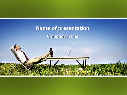 Technology and Science: Ecological Environment PowerPoint Template #03184