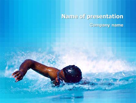Sports: Swimming PowerPoint Template #03186