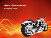 Cars and Transportation: Bike PowerPoint Template #03188