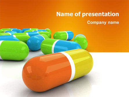Medical: Colored Pills PowerPoint Template #03191