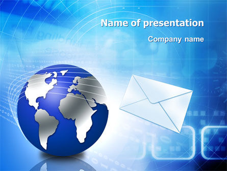 Post PowerPoint Template, 03193, Global — PoweredTemplate.com