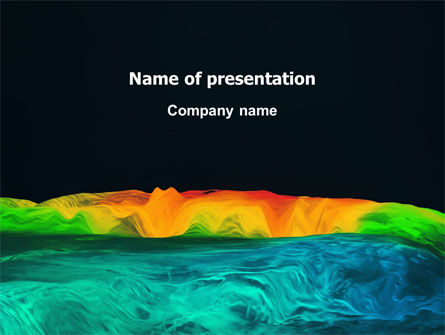 Technology and Science: Gravity Data PowerPoint Template #03194
