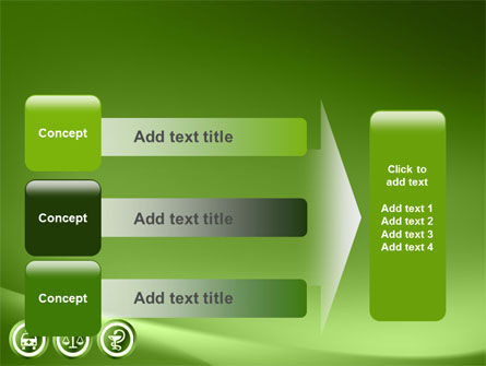 Signs Of Medicine In A Green Colors PowerPoint Template Slide 12